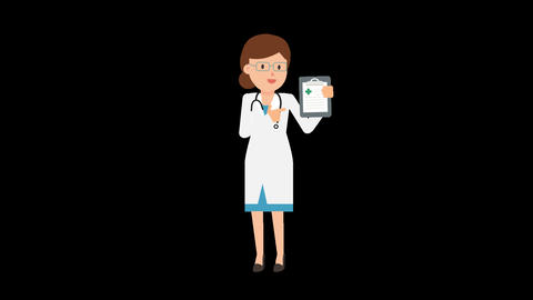 Doctor Showing Clipboard Animation