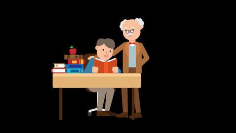 Professor Teaching a Student Animation