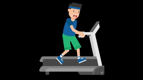 Man on a Treadmill Animation