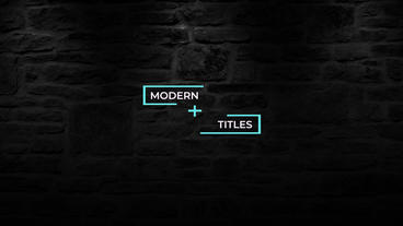 Titles Pack Motion Graphics Template