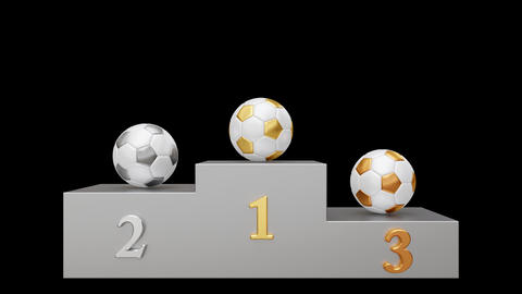 Soccer pedestal 02 looped Animation