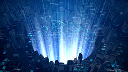 Digital Sci-Fi City Background GIF