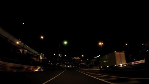 Convergence of highway at night ビデオ