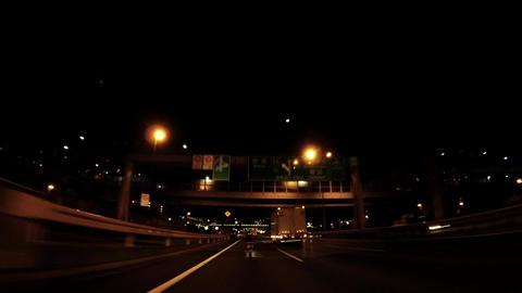 Night express highway drive ビデオ