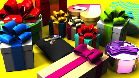 Colorful Gift Boxes CG動画