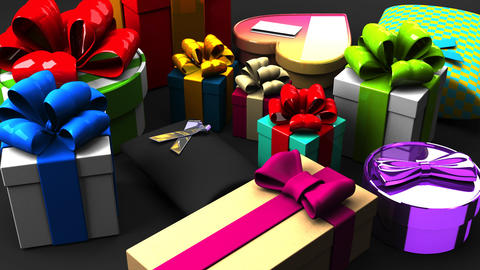 Colorful Gift Boxes Animation
