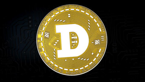 Coin of dogecoin cryptocurrency Animation