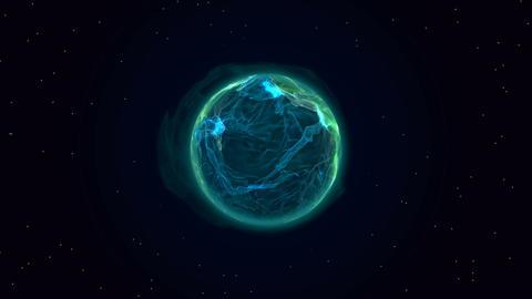 Blue plasma planet in space Fotografía