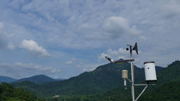 Weather station at high mountain ビデオ
