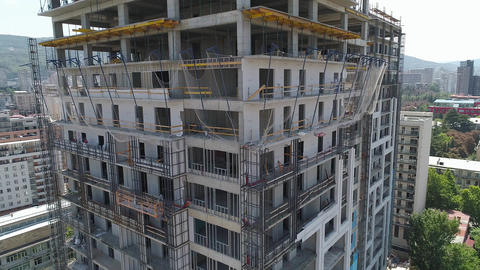 Construction of concrete buildings Stock Video Footage