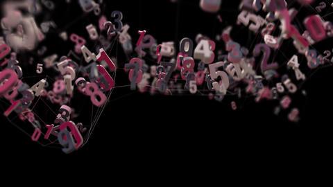 4K Random Numbers Moving in a Mesh Footage