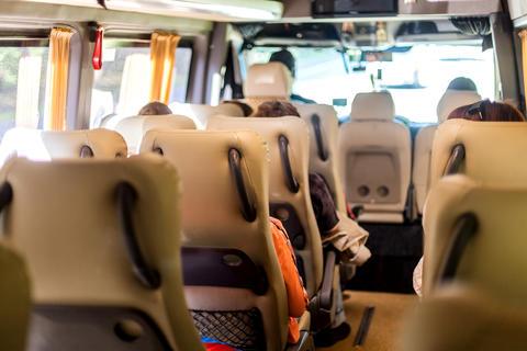 Seats inside the minivan Photo