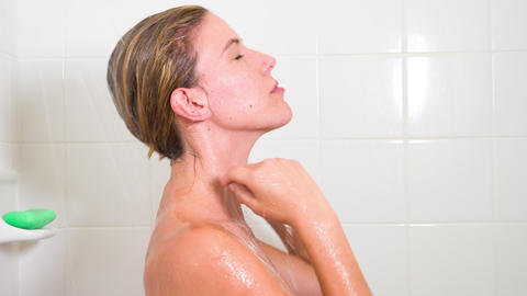 Attractive Woman In The Shower GIF