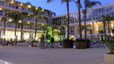 Resort Hotel Patio Swimming Pool Archivo