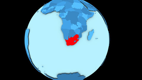 South Africa on blue planet Animation