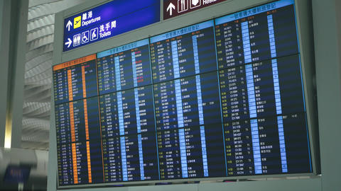 International Airport Departures Board Live Action