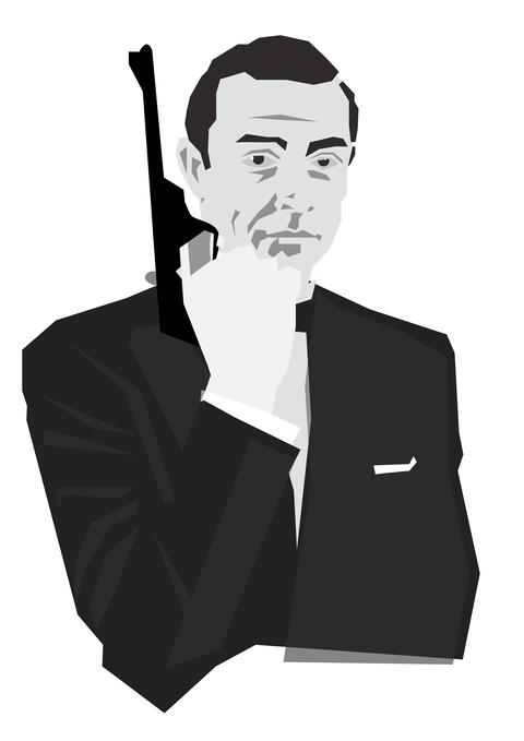 james bond character with gun Photo