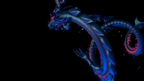 Flying Chinese Dragon VJ Loop Animation