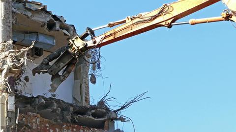 Demolition machinery working Footage