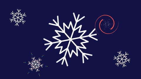 Animated snowflakes 1 CG動画素材