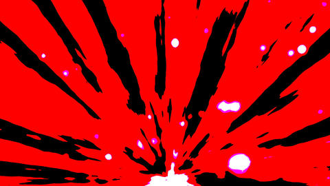Red abstract motion CG動画素材