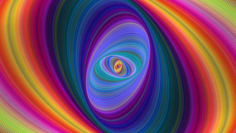 Colorful abstract ellipse spiral background - seamless loop CG動画素材