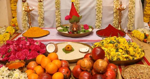 Hindu prayer at home Footage