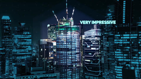Night Modern Slideshow After Effects Template