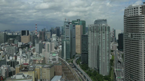 Motion timelapse view of Tokyo's heavily populated central area shot from the to Footage
