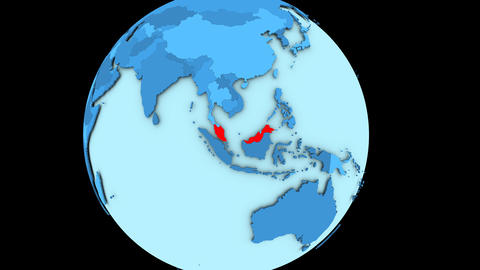 Malaysia on blue planet Animation
