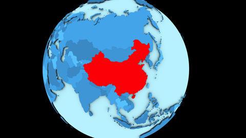 China on blue planet Animation