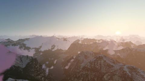 Mountain Clouds Towards Sunrise Archivo