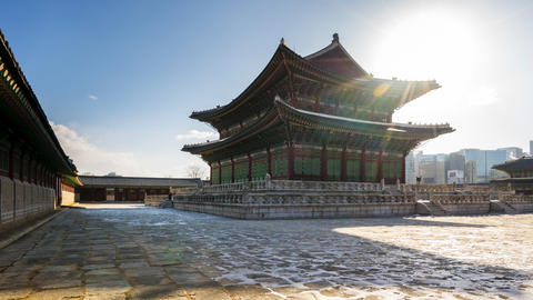 Time Lapse video of Gyeongbokgung Palace in Seoul, South Korea timelapse 4K Live Action