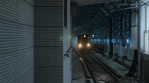 Train arriving in subway Live Action