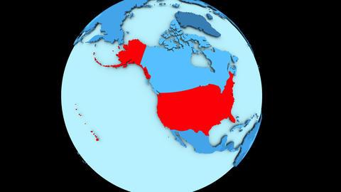 USA on blue planet Animation