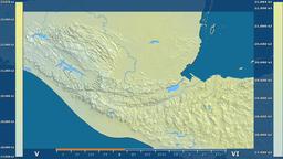Guatemala - solar radiation, raw data Animation