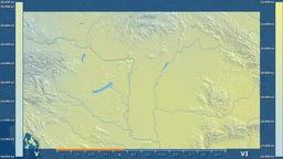 Hungary - solar radiation, raw data Animation