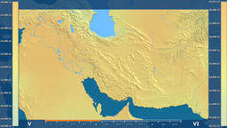 Iran - solar radiation, raw data Animation