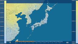Japan - solar radiation, raw data Animation