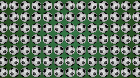 Football ball soccer green background pattern CG動画素材