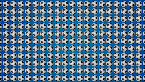 Football ball soccer blue background pattern Animación