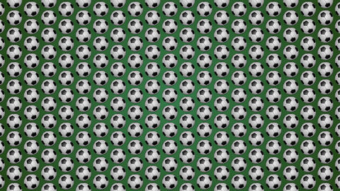 Football ball soccer green background pattern Animation