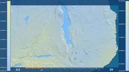 Malawi - solar radiation, raw data Animation