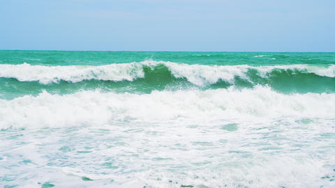 sea waves on a sunny day Footage