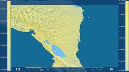 Nicaragua - solar radiation, raw data Animation