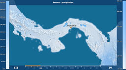 Panama - precipitation, English labels Animation