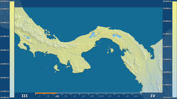 Panama - solar radiation, raw data Animation