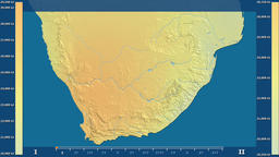 South Africa - solar radiation, raw data Animation