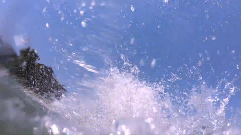 Man Under Water Then Exiting the sea GIF