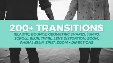 200+ Transitions Pack Premiere Proテンプレート
